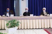 عکس: شرکت آیت الله اعرافی در جلسه ستاد ملی مقابله با کرونا