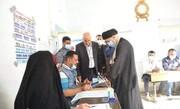 حضور نماینده آیتالله سیستانی در پای صندوق رأی + عکس