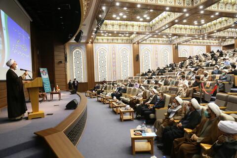 تصاویر / آئین تجلیل از طلاب و روحانیون جهادی در بحران کرونا