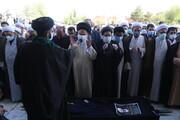 مراسم تشییع و خاکسپاری پیکر مدیرکل مرکز خدمات استان قم برگزار شد