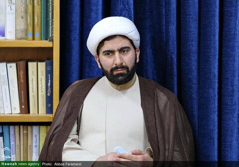 بالصور/ ممثل السلطة القضائية في إيران يلتقي بمدير الحوزات العلمية بقم المقدسة