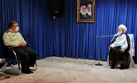 تصاویر/ دیدار فرمانده نیروی انتظامی کشور با مراجع و علما