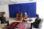 تصاویر / دیدار وزیر ورزش و جوانان با آیت الله العظمی جوادی آملی