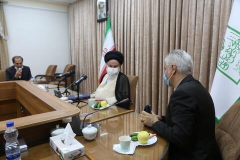 تصاویر/ دیدار وزیر ورزش با آیت الله حسینی بوشهری