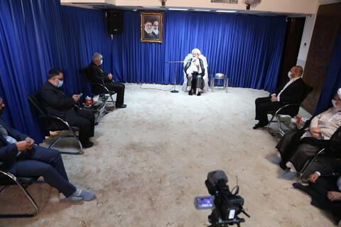 تصاویر/ دیدار وزیر ورزش با آیت الله نوری همدانی