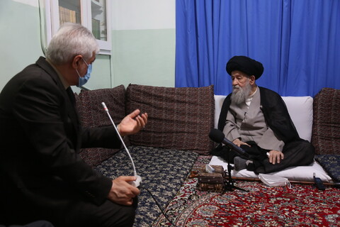 تصاویر/ دیدار وزیر ورزش با آیت الله علوی گرگانی