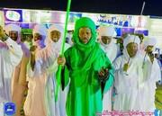 برگزاری جشن مولد النبی(ص) باحضور قطب تیجانیه منطقه نیل ازرق + تصاویر