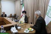 بالصور/ آية الله الحسيني البوشهري يستقبل وزير الرياضة الإيراني بقم المقدسة