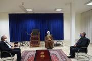 وزیر بهداشت با آیت الله العظمی جوادی آملی دیدار و گفت وگو کرد + تصاویر