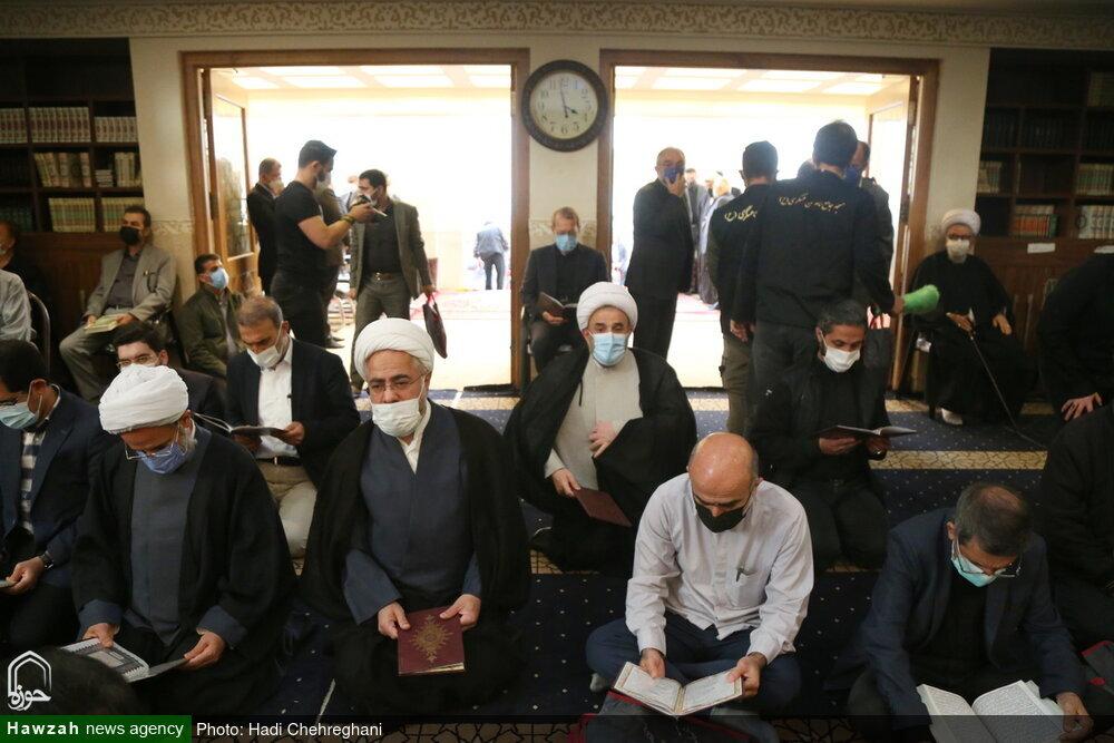 بالصور/ إقامة مجلس تأبين للفقيد آية الله حسن زاده الآملي في العاصمة طهران