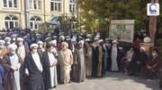 فیلم/ اجتماع حوزویان تبریز در حمایت از شیعیان مظلوم افغانستان