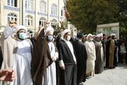 تصاویر/ اجتماع حوزویان تبریز در محکومیت جنایات تروریستی در افغانستان