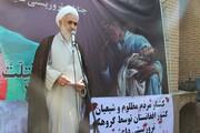 تجمع حوزویان قزوین در حمایت از مردم افغانستان | عابدینی: انتقام شهدای قندوز و قندهار گرفته شود