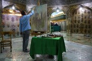 رونمایی از  نقاشی صحنه ورود حضرت معصومه(س) به شهر مقدس قم