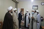 تصاویر/ دیدار مدیر و معاونان حوزه علمیه کردستان با امام جمعه سنندج به مناسبت هفته وحدت