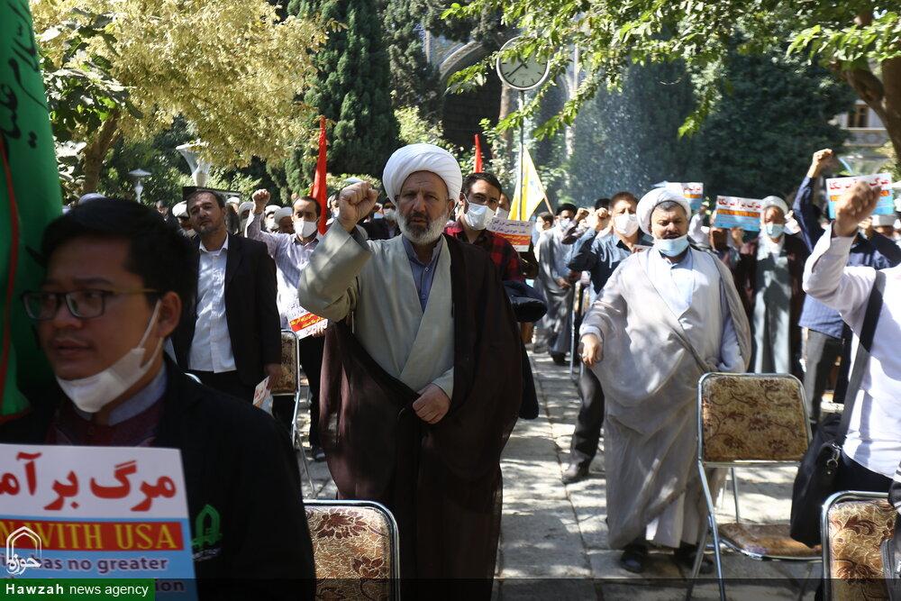 تصاویر/ اعلام انزجار طلاب و روحانیون اصفهان از اقدامات تروریستی علیه شیعیان افغانستان