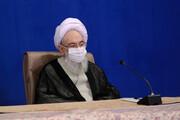 تصاویر/ دیدار اعضای جامعه روحانیت مبارز با رییس جمهور