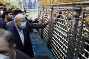 رئیس مجلس به زیارت حرم حضرت معصومه(س) مشرف شد