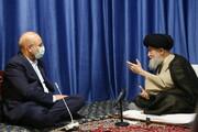 تصاویر / دیدار رئیس مجلس شورای اسلامی با حضرت آیت الله علوی گرگانی