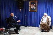 تصاویر / دیدار رئیس مجلس شورای اسلامی با آیت الله العظمی نوری همدانی