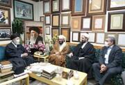 حضور تعدادی از میهمانان کنفرانس وحدت در کتابخانه آیت الله العظمی مرعشی