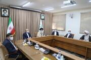 تصاویر / دیدار رئیس مجلس شورای اسلامی با آیت الله حسینی بوشهری