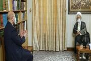 دیدار رئیس مجلس شورای اسلامی با آیت الله العظمی مکارم