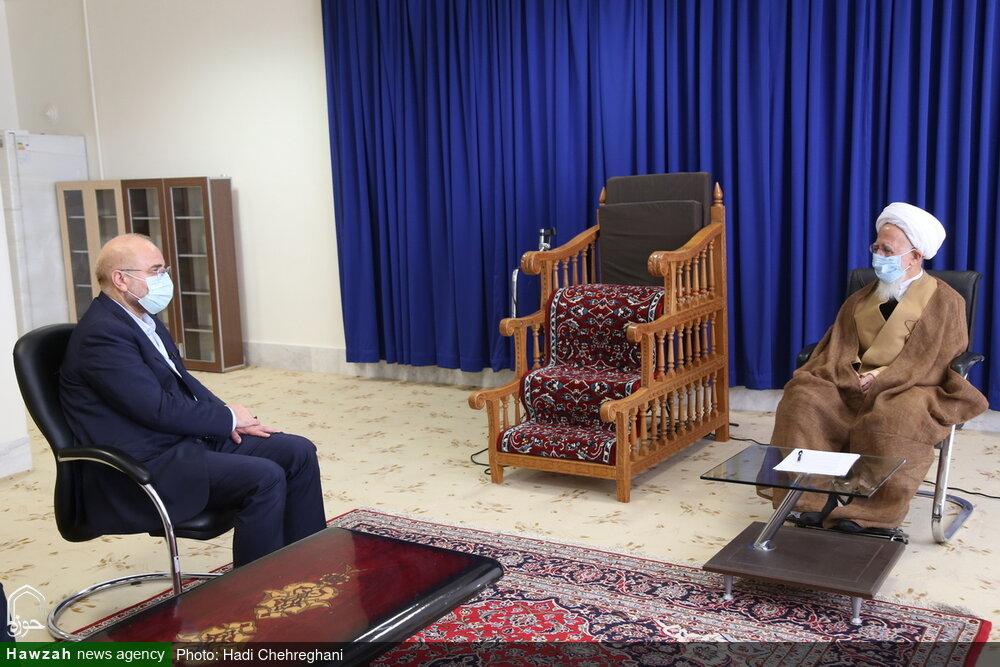 تصاویر / دیدار رئیس مجلس شورای اسلامی با آیت الله العظمی جوادی آملی