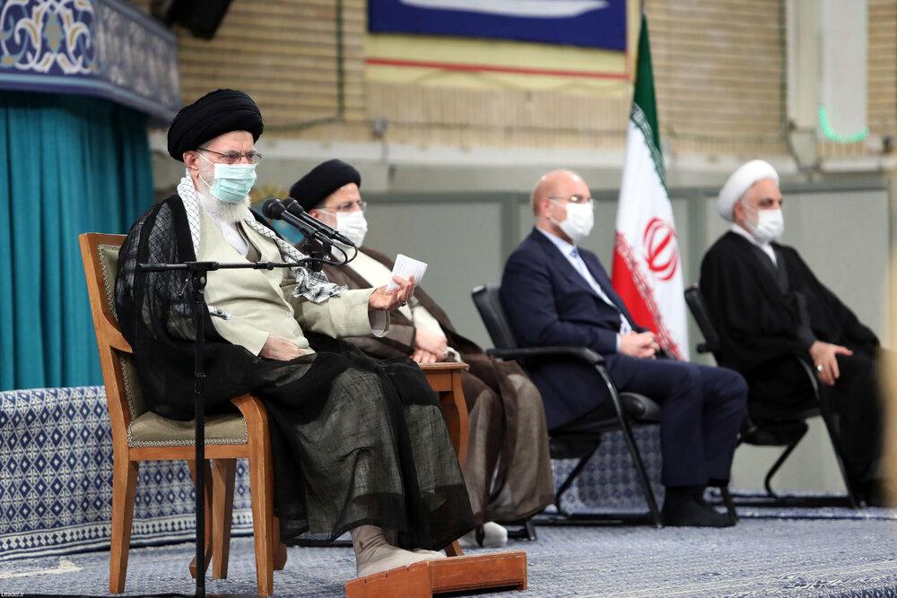 صوت کامل بیانات رهبر معظم انقلاب در دیدار امروز میهمانان کنفرانس وحدت اسلامی و جمعی از مسئولان نظام