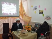 برگزاری جلسه درس اخلاق طلاب در محل مدرسه علمیه ریحانهالنبی شادگان