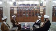 بازدید رئیس دفتر تبلیغات خوزستان از مدرسه علمیه و موزه آیت الله انصاری