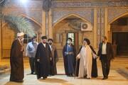 تصاویر/ نشست صمیمانه جمعی از اساتید و طلاب مدرسه درس خارج اهواز با آیت الله موسوی جزایری