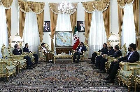 السيد عمار الحكيم ورئيس الأمن القومي الإيراني علي شمخاني
