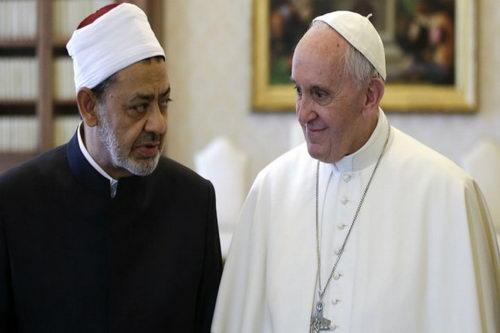 شيخ الأزهر والبابا فرنسيس