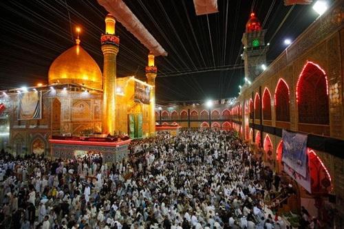 العتبة العلوية المقدسة عشية استشهاد الإمام أمير المؤمنين (ع)