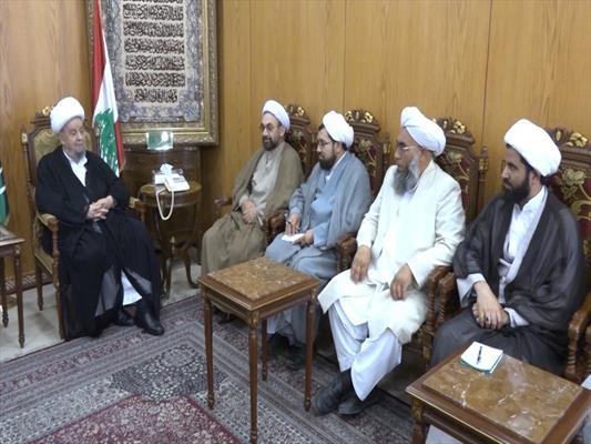 الشيخ عبد الأمير قبلان استقبل وفدا علمائيا ايرانيا