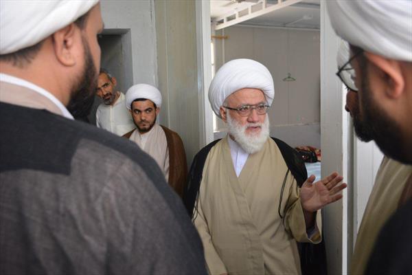 آية الله اليعقوبي يزور جامعة الامام الباقر (ع) في النجف الأشرف