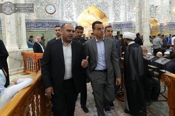 نائب السفير المصري يهنئ العالم الإسلامي بذكرى ولادة الإمام أمير المؤمنين(ع) خلال زيارته للعتبة العلوية