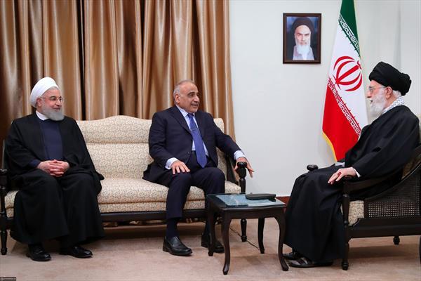 لقاء رئيس وزراء جمهورية العراق السيد عادل عبد المهدي بالإمام الخامنئي