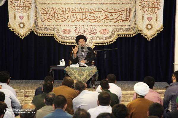 آية الله المدرسي يواصل تدبراته بسورة الدهر في شهر رمضان المبارك