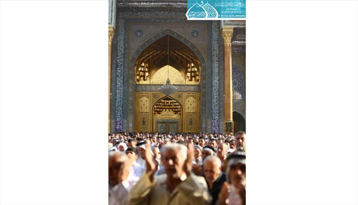 الصحن الكاظمي الشريف يَشهدُ صلاة عيد الفطر المبارك