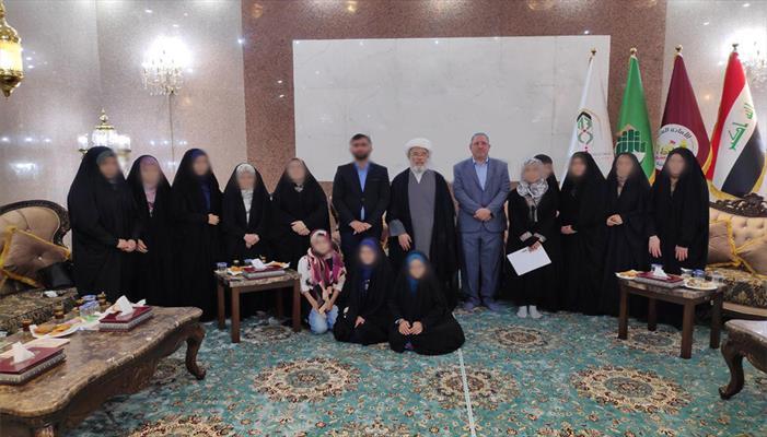 العتبة الحسينية تستقبل النساء التركمانيات بعد فك اسرهن من داعش