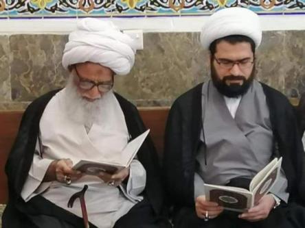 آية الله النجفي يشارك في تأبين آية الله السيد محمد الشاهرودي