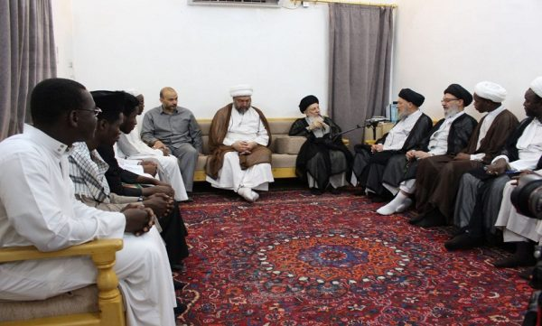 Ayat. Hakim receives African clerics