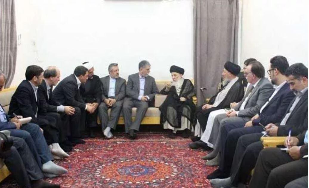 Grand Ayat. Hakim receives Iranian culture minister