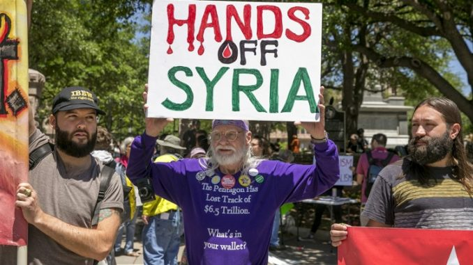 Chicago protesters criticize US strike on Syria
