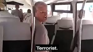 Middle-aged Spanish woman calls young Muslim a terrorist and tells her off for wearing a 'burka' in shocking race row on a bus