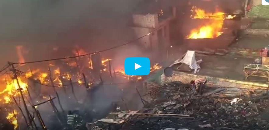 ۲۰۰ Muslim homes burnt down in India's Meerut