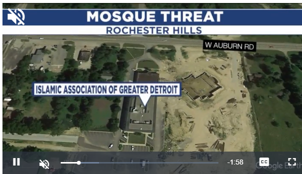 Man creates unsettling disturbance at mosque in Rochester Hills