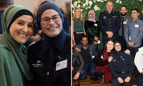 Australia's first hijab-clad police officer celebrates Ramadan by breaking the fast with a traditional Iftar dinner